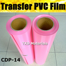50CMX25M PER ROLL CDP-14 Light pink Fabric PVC transfer film with free shipping heat transfer pvc film