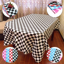 New 4-color Black And White Grid Security Fabric Disposable Thick Plastic Tablecloth Chess Grid Table Cloth Size 1 M X2 M