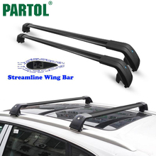 Partol Car Roof Rack Cross Bars Roof Luggage Carrier Roof Rail Bike Rack for Volvo XC60 Audi Q3 Q7 Volkswagen Touareg 104-109CM(China)