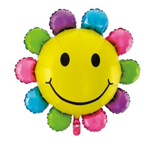 Colorful Sunflowers Smiley Faces Balloons Sunflower Balloons Party Decorations BallKoons Kindergartens Festivals Decorations