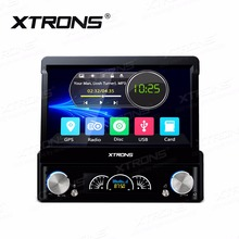 XTRONS Universal 1 Din 7 inch HD Digital Touch Screen Car DVD Player GPS Navigation Steering Wheel autoradio MP4 Radio Head Unit
