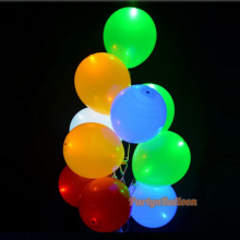 5Pcs Led Light Balloon Halloween Balloon Colorful Light for Paper Lantern RGB Flashing Birthday Wedding Party Supplies