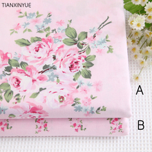 160*50cm 100% cotton fabric Victoria Pink roses Bedding fabric DIY for Sewing patchwork cushion Home textile fabrics(China)