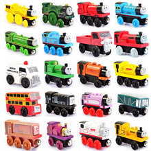 Thomas and Friends Anime Wooden Railway Trains Toy Trains Model Great Kids baby Toys for Children Christmas Gifts Free Shipping