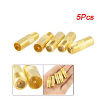 "5PCS Coaxial Coax RF Adapter Connectors TV PAL Male Plug to ""F"" Female M/F(China)"