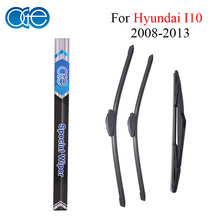 Oge Front And Rear Wiper Blade For Hyundai I10 2008-2013 Windscreen Wipers Rubber Car Accessories(China)