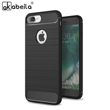 Buy AKABEILA Phone Cases Covers Apple iPhone 7 7G iphone7 A1660 A1778 iPhone7G Carbon Fiber Bags Foe Iphone 7 Brushed Case Cover for $2.30 in AliExpress store