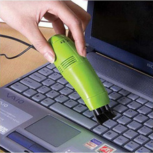Mini USB keyboard vacuum cleaner with Vacuum Brush, dust brush for household cleaning supplies color sent randomly