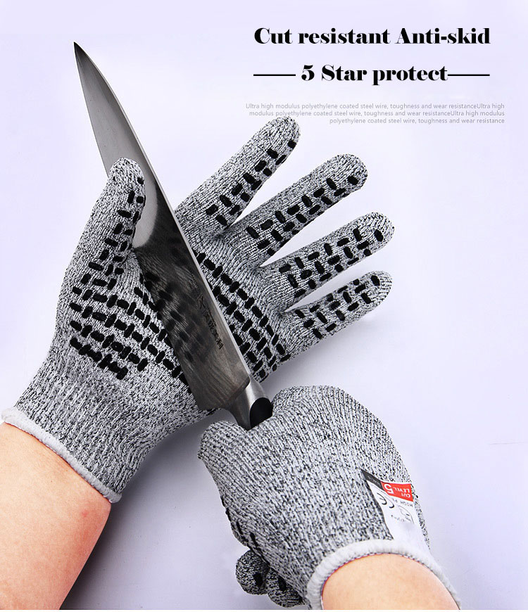 Professional Anti-cut gloves CE Standard Level 5 Cut resistant Non-slip Safety Gloves Multi-function For Working Home Kitchen (7)