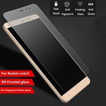 "9H Frosted Tempered Glass XiaoMi RedMi Note 3 Pro Note 3 5.5"" 3 3S 4A Screen Protector Fingerprint Matte Glass Protective"
