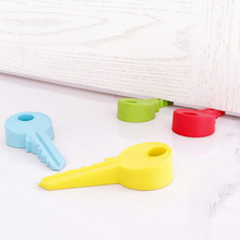 1PC Silicone Key Style Finger Protect Door Stops Stopper Holder Doorstop Wedge Protection For Baby Safety Home Decor 3 Colors(China)