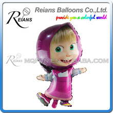 REIANS 85cm huge cute cartoon Masha, and bear inflatable children Party birthday decoration aluminum foil balloon party supplies(China)