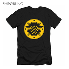 Buy Female Hero Wonder Woman T Shirt 2017 Summer Women's European Fashion Tees Top 3XL Plus Size Couple Lovers Cotton Loose Shirts ) for $7.39 in AliExpress store