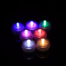 VGEBY 12Pcs Colorful LED Submersible Waterproof Wedding Christmas Party Decor Electronic Tea Night Light Round Tealight Supplies
