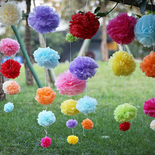 "15pcs mixed size (4"",6"",8"") Tissue paper pompoms baby shower balls for Wedding decoration kids party supplies BUY 3 GET 1 FREE!!(China)"