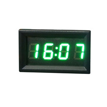 Top Brand Hot Sale Car Styling 12V/24V Dashboard LED Display Digital Clock Green Car Motorcycle Accessory Universal Best Selling(China)