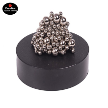 TopSun Magnetic Sculpture Desk Toy for Intelligence Development Stress Relief Magnetic Stainless Steel Ball Office Healing Toy