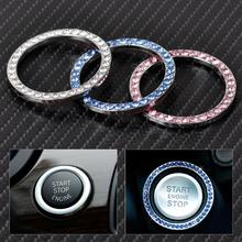 CITALL Interior One-Key Engine Start Stop Ignition Push Button Decorative Diamante Ring for Mercedes Benz BMW Audi A4 Cadillac(China)