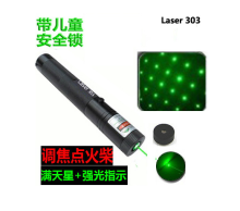 NEW AAA green laser pointer 30000mw 30w high power military 532nm focusable burning match pop balloon,burn cigarette SD laser303
