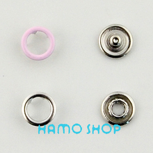 50pcs/lot 9.5mm Pink Baby Romper Buckle Button Fastener Sewing Craft Free Shipping Hollow Prong Metal Snap