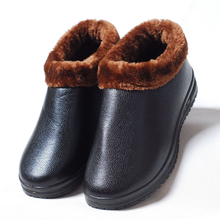 2018 winter new plus 벨벳 면 shoes men's casual men's shoes 두꺼운 warm non-slip 중년 면 부츠 겨울 boots(China)