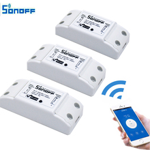 3pcs Sonoff Smart Home Wireless Intelligent  Remote Control Products Itead Share Timer Diy 220V Via Android IOS Wifi Switch