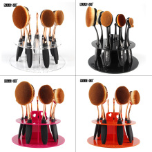 10 Holes 1pcs Acrylic Makeup Brush Dryer Holder Cosmetic Organizer Make Up Brush Rack Oval Brush Shelf For Stand Hanging brush