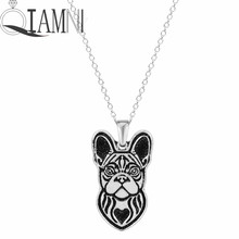 QIAMNI Handmade French Bulldog Puppy Pet Lovers Animal Unique Necklaces & Pendants Gift for Women and Girls