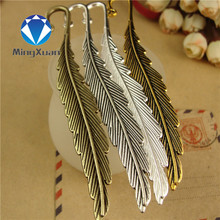 MINGXUAN 5pcs/lot 115x13mm Retro Big Feather bookmark Color Optional DIY craft Jewelry making Gifts production material C498(China)