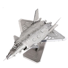 2016 New J-20 JET bomber aircraft scale models 3D DIY Metal model for adult/kids toys J-20 stealth fighter Metallic Nano Puzzle