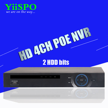 YiiSPO 4CH Standard 48V POE 1080P NVR H.264 HDMI ONVIF FULL HD Built in POE RJ45 Port Surveillance DVR support 2HDD XMeye(China)