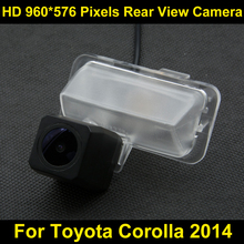 PAL HD 960*576 Pixels high definition Parking Rear view Camera for Toyota Corolla 2014 Car Backup Reverse Camera(China)