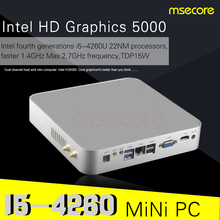 Intel Core i5 4260U Mini PC Desktop Computer Windows 10 NUC TV Box barebone system Nettop Haswell HTPC HD5000 Graphics 4K WiFi