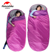 Buy Naturehike Pancake style Camping Adult cotton sleeping bag Winter Ultralight Multifuntion Portable Hiking Travel Sleeping Bag for $42.00 in AliExpress store