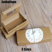 Kraft Paper Box Brown Paper With Clear Window For Macaron Food Take Away Packaging Box PP032001