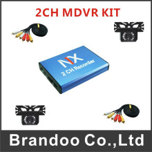 Mobile DVR 2CH Bus Vehicle Security DVR kit