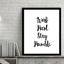 Work Hard Inspiring Quotes Wall Art Digital Poster Canvas Art Oil Paintings Picture Paintings for Living Room Wall No Frame(China)