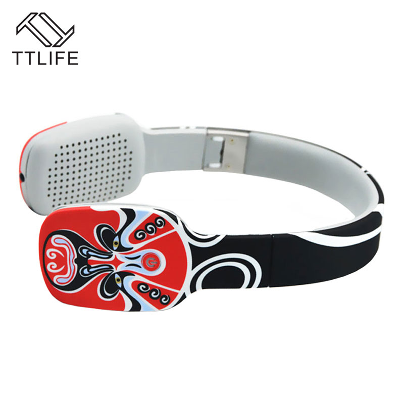 TTLIFE Wireless Headphone Bluetooth CSR4.1 Music Earphone Touch Design Foldable Noise Cancelling Headset with Mic for Phone PC<br>