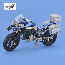 mylb Technic The BAMW R 1200 Gs Adventure Off-road Motorcycles set Building Blocks 603pcs Bricks assembly Toys(China)