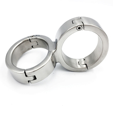 Buy Stainless steel bondage hand cuffs adult games bdsm restraints tools metal handcuffs slave fetish sex toys couples