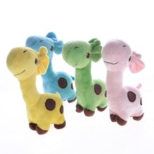 Holapet Plush Dog Toys Cartoon Deer Design Squeak Dog Toys Puppy Sound Chew Toys For Small Dogs Pets Pet Products - 4 Colors