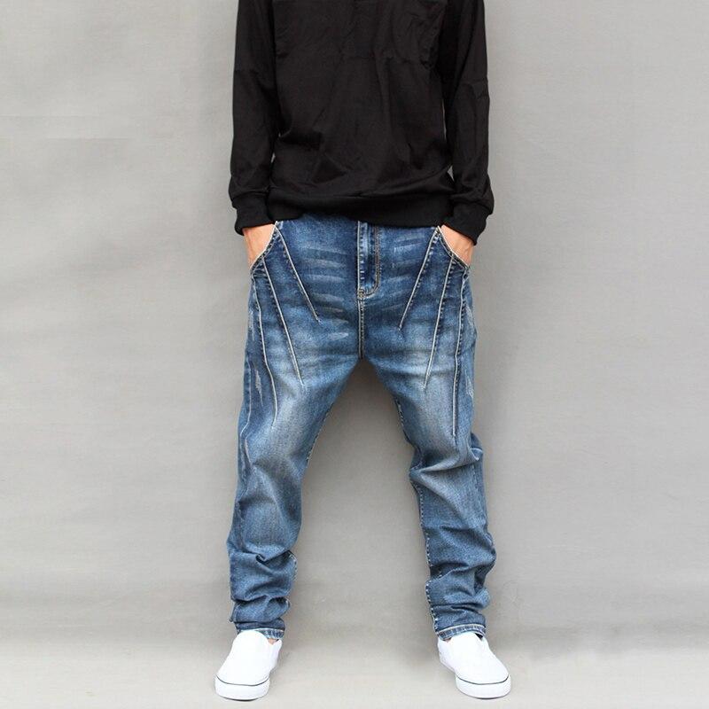 Unique Design Plaind Harem Pants Mens Big Personality Low-Rise Pants Spring and Autumn Male Skinny Jeans Plus Size Trousers 5XLÎäåæäà è àêñåññóàðû<br><br>