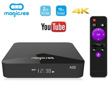 Magicsee N5 Android ТВ Box Amlogic S905X Android 7.1.2 2 ГБ/16 ГБ 2,4 г + 5 г Wi-Fi ТВ коробка 4 К Bluetooth 4,1 Поддержка 4 К H.265 Cortex A53(China)