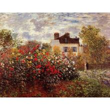 High quality Claude Monet Landscapes paintings for sale artist garden in Argenteuil Sun Canvas art hand-painted Home decor(China)