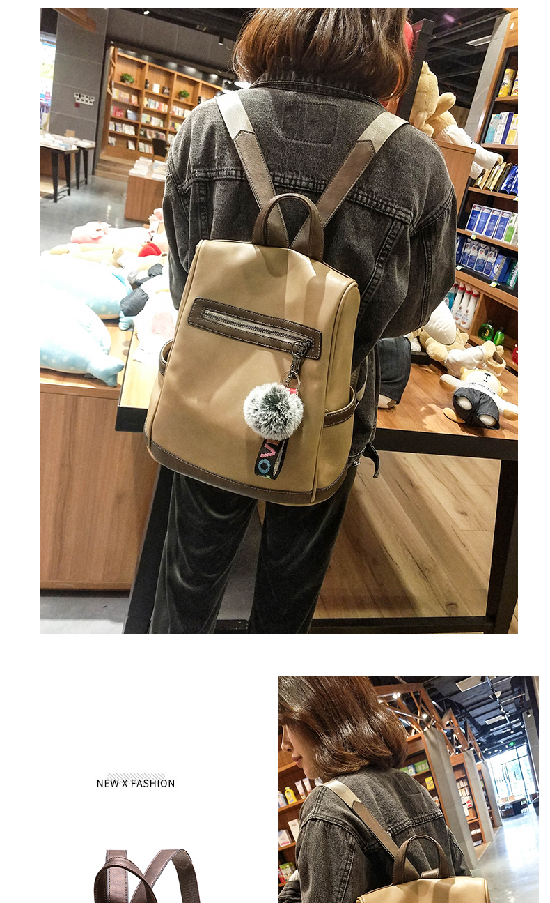 2018 New High-end Fashion Backpack Trend Simple Personality Fashion Campus Bag Large Capacity Bag Soft Leather Travel Backpack 45 Online shopping Bangladesh