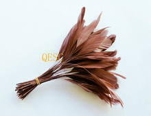 New Coffee brown colour.14-19cm cocktail feather for fascinator church hat /sinamay hat/party mask/wedding hat,14 colors.