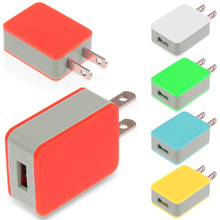 US Plug Charger For Cell Phone 5V 1.5A Travel Home Wall Cube Charging Adapter Universal