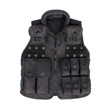 Tactical Black Encryption 600D Oxford Cloth Vest  For kids  Hunting Paintball Accessory CL4-0030
