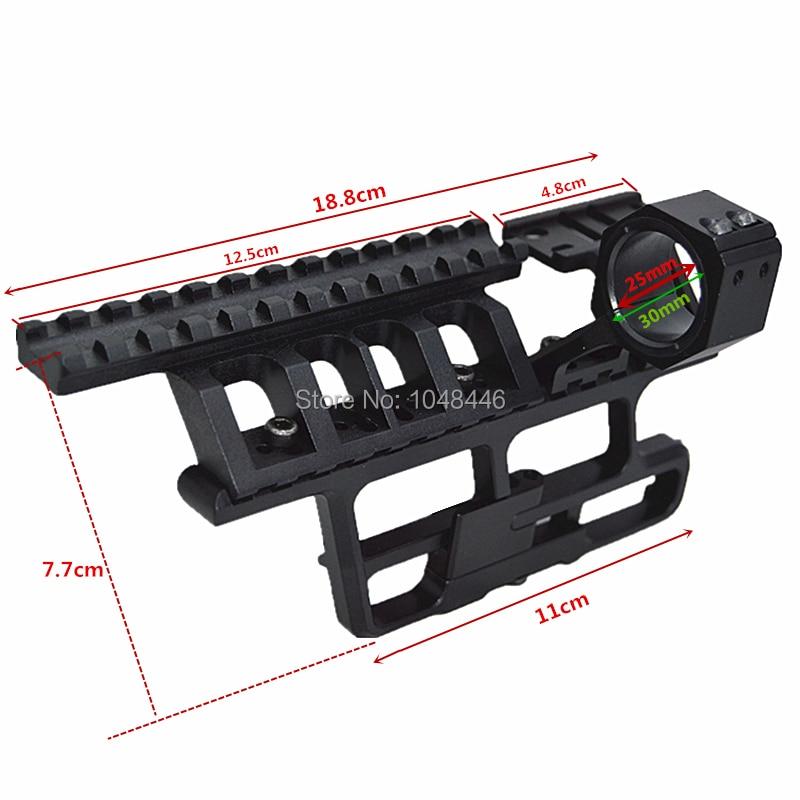 Scope Mounts for AK-307 Saiga Full-Length Optic Rail 25.4mm or 30mm side rail combination flashlight torch laser mounts<br>