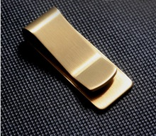 Brand New Supreme Brass wallet metal money clip paper clip change paper clip Pure copper thick restoring ancient ways(00189)